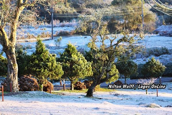 Galeria 5 - Notícia Lages Turismo Geada embeleza o amanhecer em Lages