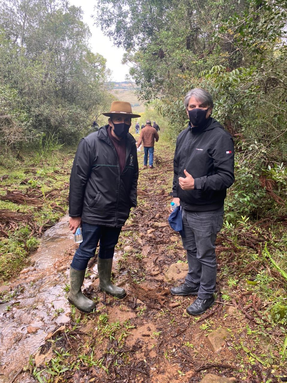 Galeria 0 - Notícia Lages Turismo Secretarias de Turismo e Agricultura fazem visita técnica no Passo de Santa Vitória