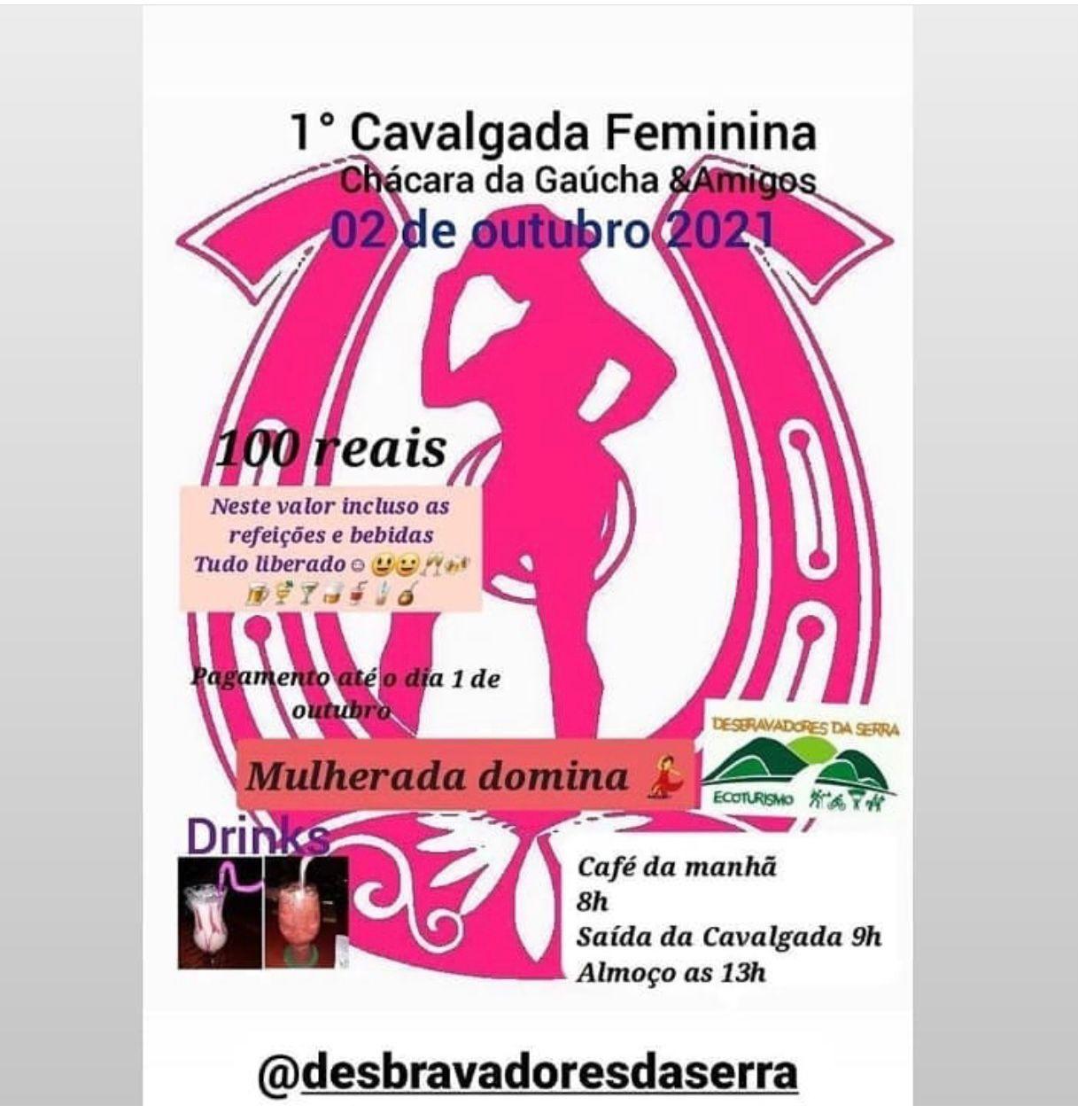 1º Cavalgada Feminina Chácara da Gaúcha & Amigos